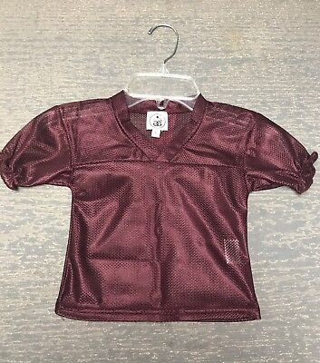 Infant Girl 6 Month Ruffled Maroon Halloween Costume Football Spirit Jersey NWT - 6 Month Girl Halloween Costumes