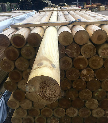 """WOODEN SHOW JUMP POLE - HORSE - TIMBER - PROFILE - 3.6M (12FT) X 4"""" - TREATED"""