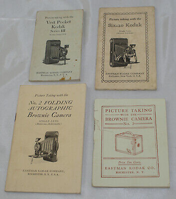 Antique Camera Manuals from 1900's Lot of 4, used for sale  Shipping to India