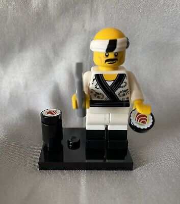 Lego 71019 The Ninjago Movie Sushi Chef Minifigure Great Condition, Ships Fast