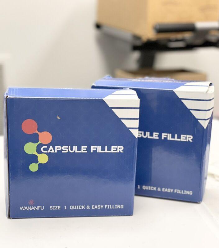 Lot of (2) 100 Holes #1 Capsule Manual Fillers Vitamins Coffee Powder Capsules