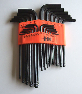 Ball Hex Key Wrench (25pc BALL END ALLEN HEX KEY DRIVER WRENCH SET SOCKET)