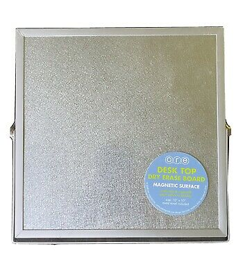 Desktop Dry Erase Board New With Magnetic Surface And Metal Frame And Easel