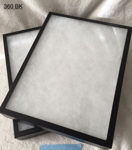 "2-360 Riker Mount Display Case Shadow Box Frame Tray   16"" X 12"" X 2"""