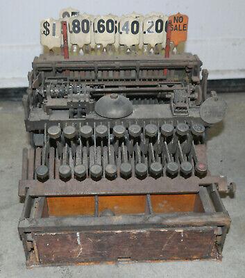 Early NCR National Cash Register w/ model tag parts unit CASH REGISTER