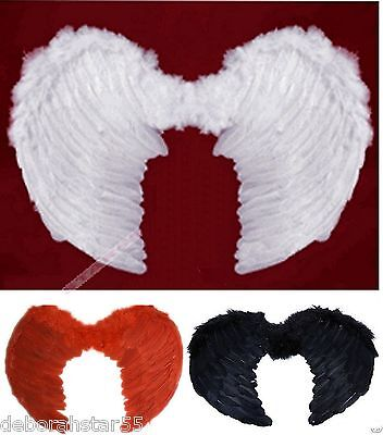 Small Feather Angel Wings Black White Red Pink Wings 15
