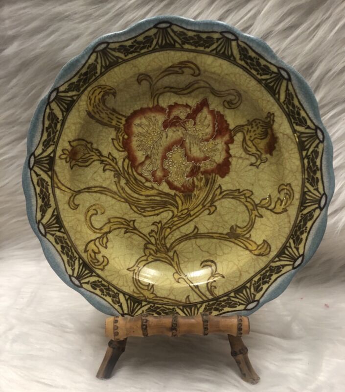 WONG LEE HAND PAINTED PORCELAIN PLATE 1895 #13445