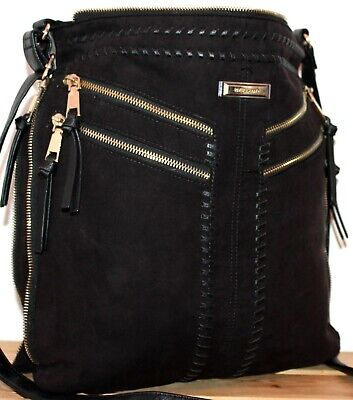 River Island Boho/Hobo Black Bucket Satchel/Messenger/Shoulder Bag/Tote/Purse
