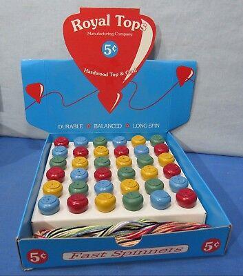 Royal 5¢ Tops ~ Display Box of 3 Dozen & Store Window (Window Display Box)
