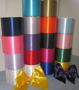 SATIN-SASH-RIBBON-4-100mm-EXTRA-WIDE-CHOICE-OF-8-BEAUTIFUL-COLOURS