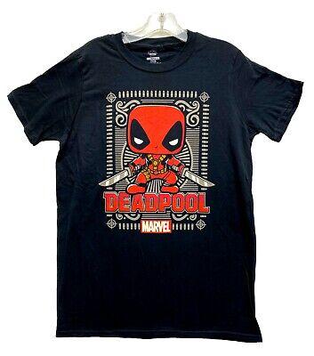 Marvel Men's Deadpool Funko Pop Posing Graphic Licensed T-Shirt Black New