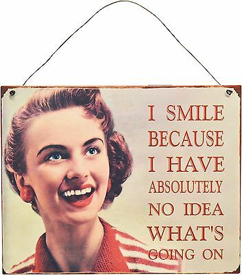 Retro Metal Wall Sign Hanging Plaque Girls Just Wanna Have Fun Vintage Home
