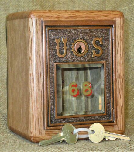 Post Office Door Bank #45 -Very RARE 1890 Corbin Door Beveled Glass - Oak