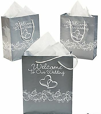 Wholesale Lot 72 Silver White Glossy Two Hearts Welcome T...