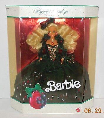 1991 Happy Holidays Barbie Doll Collectors Edition RARE HTF Mattel