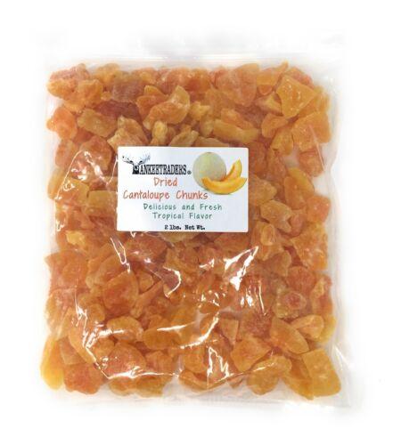 Dried Cantaloupe Chunks, 2 lbs. ~ YANKEETRADERS Brand ~ FREE SHIPPING