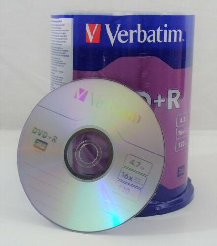 100 Pack Verbatim DVD +R Blank Discs