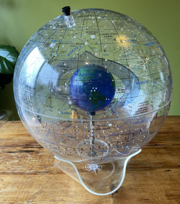 "RARE 1986 SPHERICAL CONCEPTS STARSHIP EARTH CELESTIAL GLOBE 16"" Box Book Vtg."
