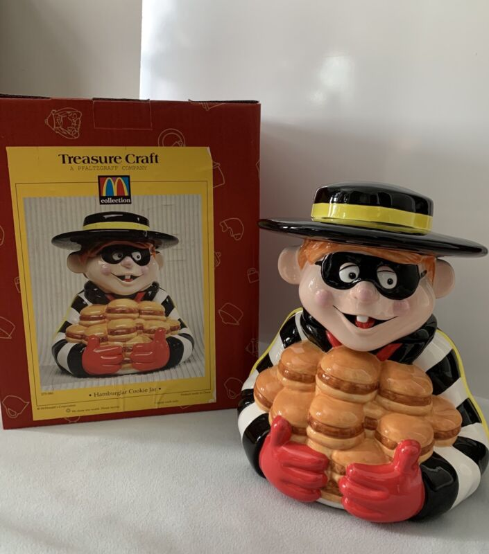 1997 Treasure Craft McDonalds Corp. Hamburglar Cookie Jar,   NIB