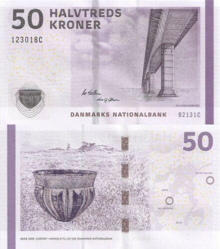 Denmark 50 Kroner (2013) - Bridge/Pottery P-65f, Sign Sorensen & Callesen UNC
