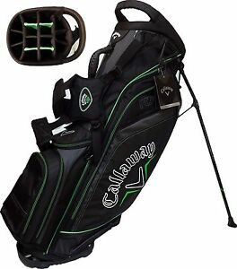NEW-Callaway-Golf-RAZR-Stand-Carry-Bag-14-way-10-Top-Black-Green-11-pockets