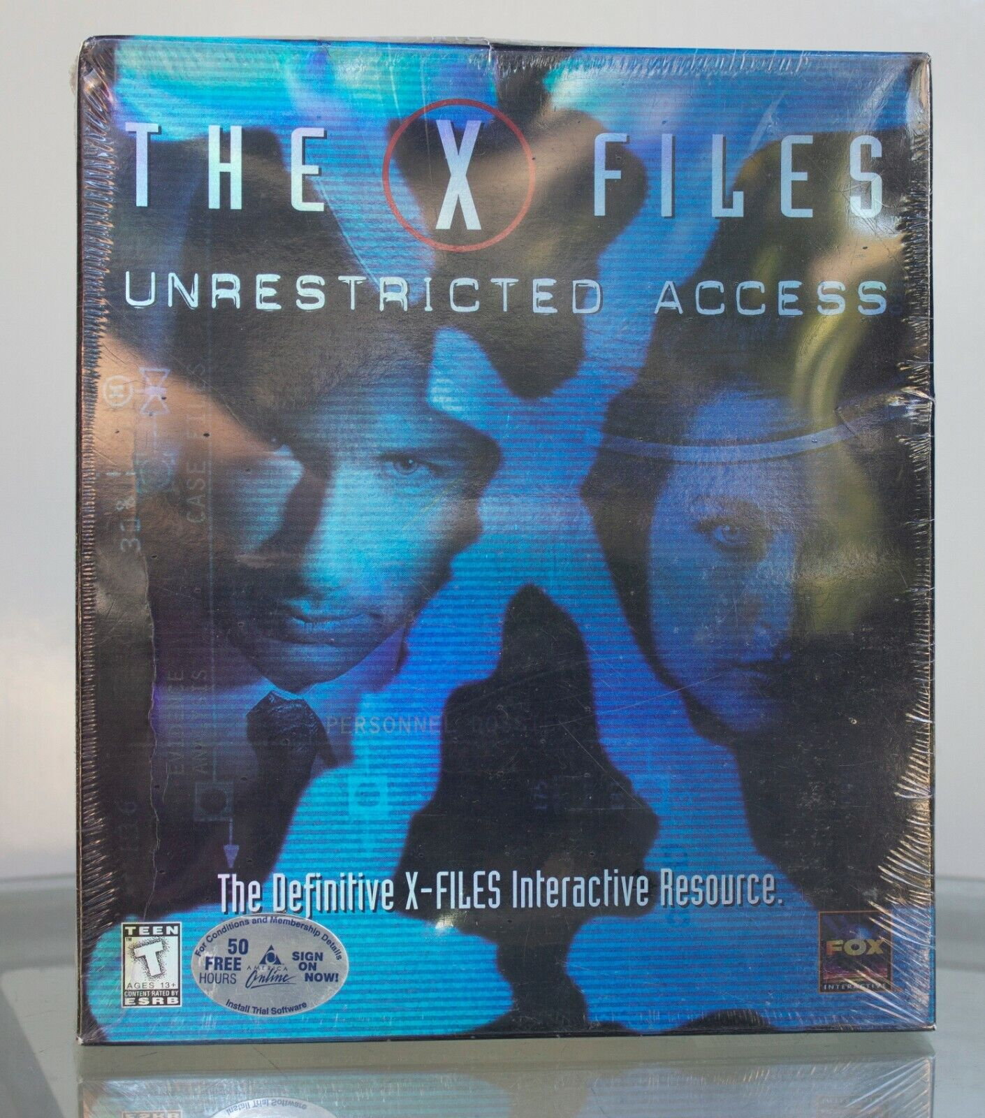 Computer Games - X-Files: Unrestricted Access Big Box Computer PC Game 1997 New Sealed
