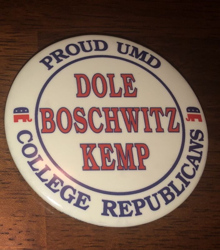 Bob Dole Kemp 1996 Minnesota local campaign pin button political Duluth