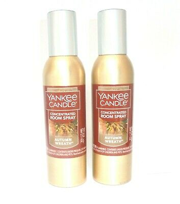 Yankee Candle 2x AUTUMN WREATH Concentrated Room Sprays ~ FREE SHIPPING