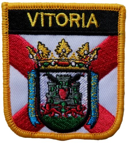 Vitoria (Gasteiz) Spain Shield Embroidered Patch
