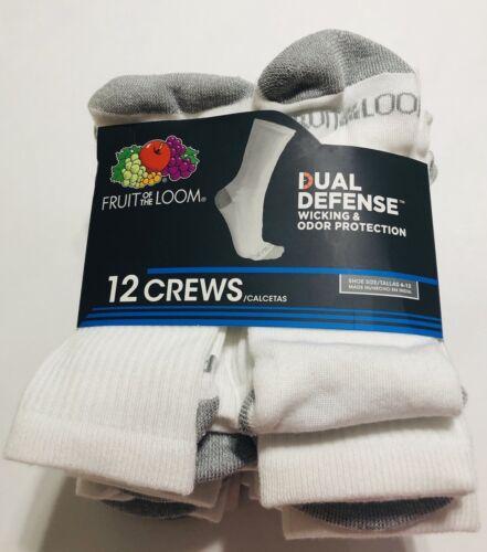 mens dual defense 12 pair white crew
