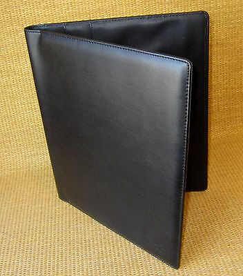 Monarch Size Black Sim Leather Franklin Covey Wire Bound Compass Planner Cover
