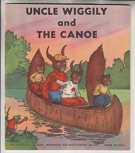 1939-BOOKLET-UNCLE-WIGGILY-AND-THE-CANOE-PLATT-MUNK-CO