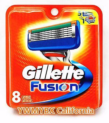 GILLETTE FUSION  RAZOR BLADES, 8 Cartridges, ***ON SALE*** #005