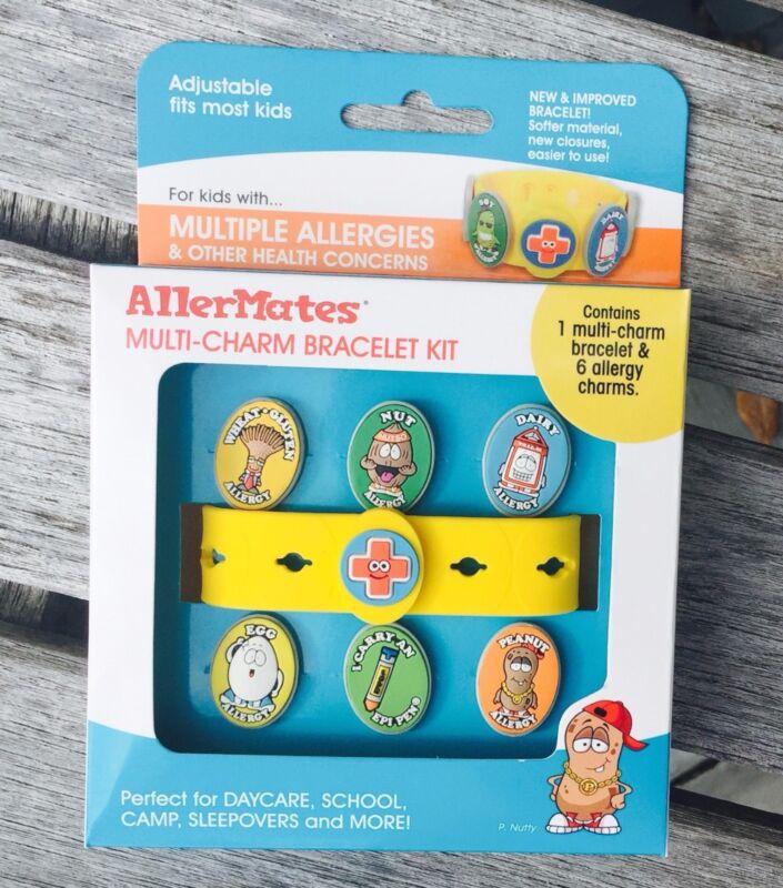 AllerMates Allergy Peanut Nut Alert WRISTBAND Medical ID Bracelet Multi CHARM