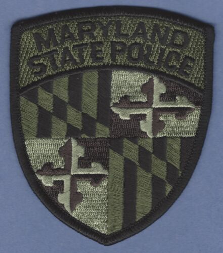 MARYLAND STATE POLICE TACTICAL GREEN SHOULDER PATCH