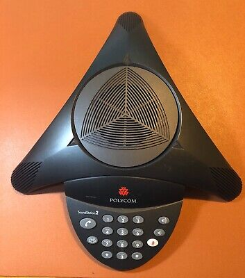 Polycom Soundstation 2 Conference Phone 2201-15100-601 With Wall Module