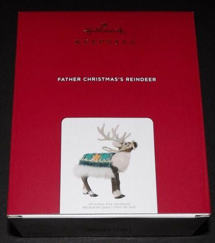 2021 HALLMARK FATHER CHRISTMAS'S REINDEER LIMITED EDITION KEEPSAKE ORNAMENT