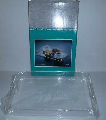 Wheelock Acrylic Serving Tray With Handles 16.5