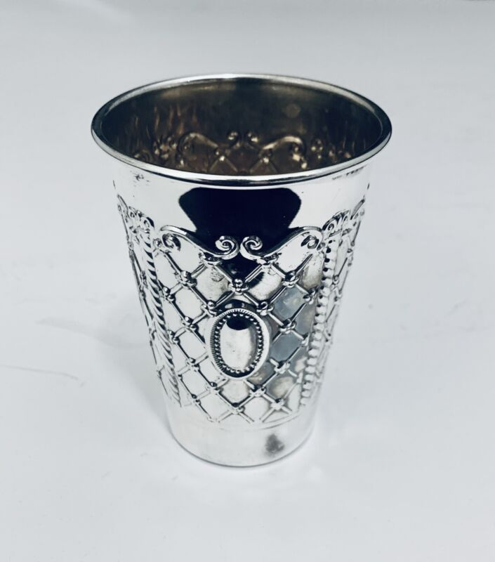 SOLID STERLING SILVER  KIDDUSH CUP GOBLET  BY HADAD