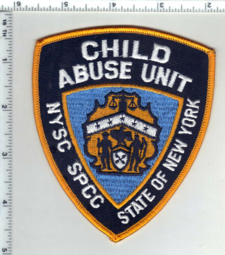 NYSC SPCC Child Abuse Unit 1st Issue Shoulder Patch (defunct since 2006)