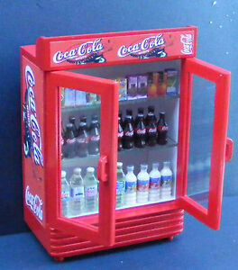 1 12 scale two door coca cola coke cooler dolls house for 1 door retro coke cooler