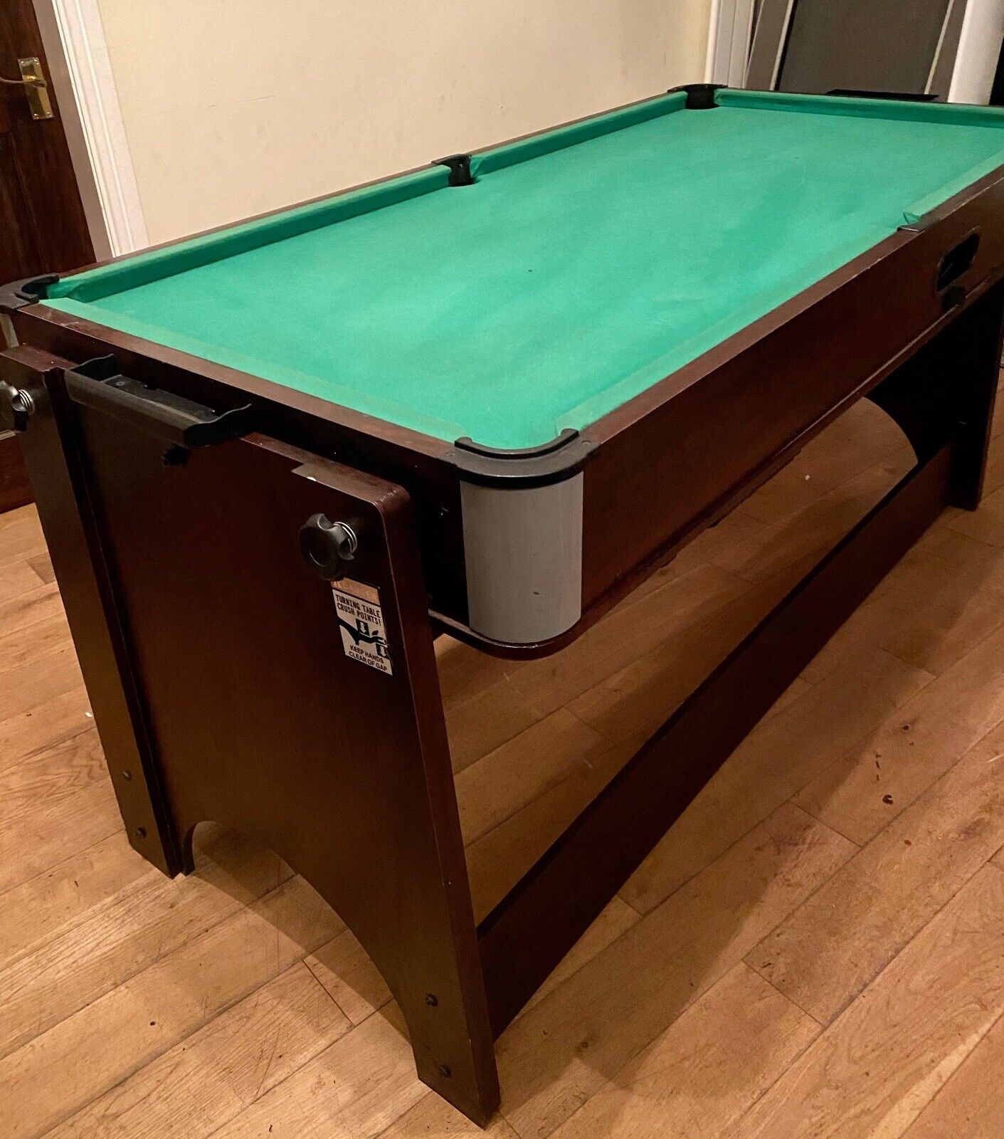 5 Ft Convertible Pool And Air Hockey Table
