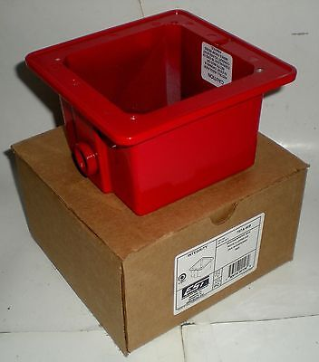 ELECTRICAL WEATHER PROOF BOX RED OUTDOOR 757A-WB GS BUILDING SYSTEMS UTC FIRE Outdoor Electric Firebox
