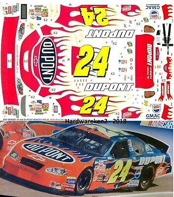 NASCAR DECAL #24 DuPONT FLAMES 2003  MONTE CARLO JEFF GORDON
