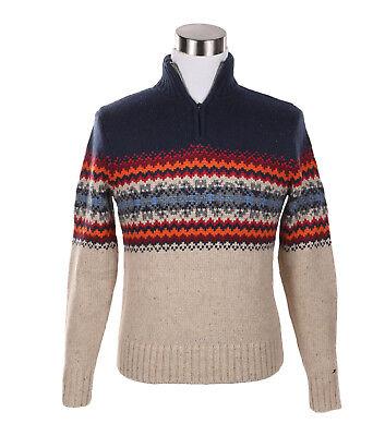 Tommy Hilfiger Men's Half Zip Mock Turtle Neck Knit Sweater Jacket -Free $0 Ship ()