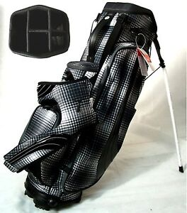 NEW-Puma-Golf-Formation-Stand-Carry-Bag-5-Way-Top-Black-Plaid-Retail-169-99