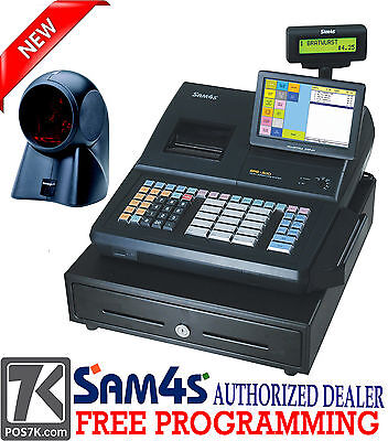 Sam4s Sps-530 Rt 7 Touch Screen Cash Register With Orbital Scanner