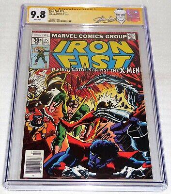 Iron Fist #15 CGC SS 9.8 Signature Autograph STAN LEE Battles Vs. X-Men Phoenix