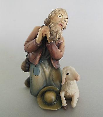 Hirte betend ca. 6 cm hoch für Krippenfiguren Größe 8-9 cm, Holz bemalt TB 22