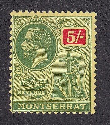Montserrat 1911  5/- green/red mint hinged
